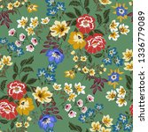 seamless floral pattern in...   Shutterstock .eps vector #1336779089