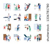 doctors and physicians... | Shutterstock .eps vector #1336781780