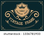 decorative frame in vintage... | Shutterstock .eps vector #1336781933