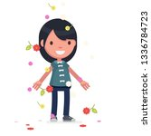 cute characters celebrating... | Shutterstock .eps vector #1336784723