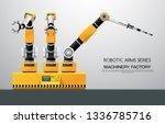 industrial machine robotic...   Shutterstock .eps vector #1336785716