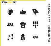 ui icons set with like  user...