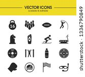activity icons set with racing...