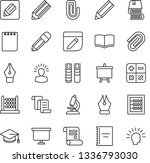 thin line icon set   contract... | Shutterstock .eps vector #1336793030