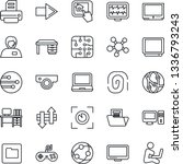 thin line icon set   right... | Shutterstock .eps vector #1336793243