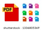pdf and color templates for any ... | Shutterstock .eps vector #1336805369