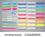 set of buttons | Shutterstock . vector #133680800