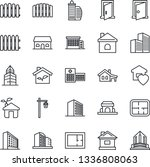 thin line icon set   office... | Shutterstock .eps vector #1336808063