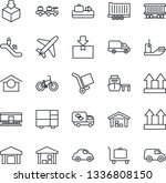 thin line icon set   plane... | Shutterstock .eps vector #1336808150