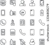thin line icon set   phone... | Shutterstock .eps vector #1336808279