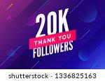 20000 followers vector.... | Shutterstock .eps vector #1336825163