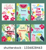 hand drawn cartoon set of... | Shutterstock .eps vector #1336828463