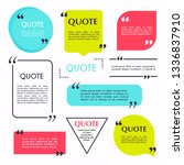 quote blank template. design... | Shutterstock .eps vector #1336837910