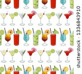 seamless pattern made from... | Shutterstock .eps vector #1336843910