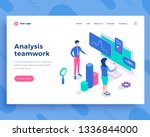 analysis teamwork concept ... | Shutterstock .eps vector #1336844000