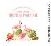 the flower paradise. summer... | Shutterstock .eps vector #1336846820