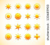 suns icons   Shutterstock .eps vector #133685903