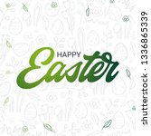 happy easter typography poster... | Shutterstock .eps vector #1336865339