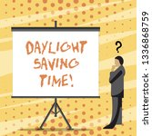 text sign showing daylight... | Shutterstock . vector #1336868759