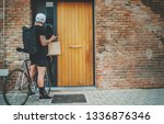 courier delivery food service... | Shutterstock . vector #1336876346