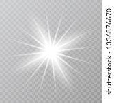 white star dust trail sparkling ... | Shutterstock .eps vector #1336876670