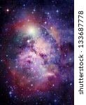 stars of a planet and galaxy in ... | Shutterstock . vector #133687778