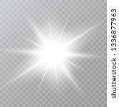 white star dust trail sparkling ... | Shutterstock .eps vector #1336877963