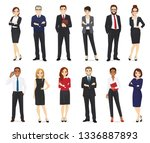 business people  office workers ... | Shutterstock .eps vector #1336887893