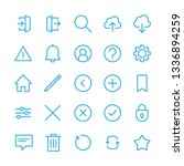 interface icons set  linear...   Shutterstock .eps vector #1336894259