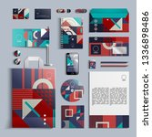 corporate identity template in... | Shutterstock .eps vector #1336898486