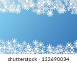 christmas background made with... | Shutterstock . vector #133690034