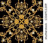 design of kerchief with baroque ... | Shutterstock . vector #1336911209