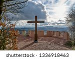 Wooden Cross At The View Point...