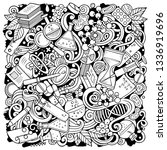 science hand drawn vector... | Shutterstock .eps vector #1336919696