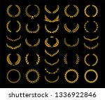 collection of different golden... | Shutterstock .eps vector #1336922846