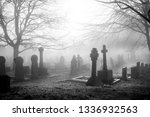 an eary mist covering an... | Shutterstock . vector #1336932563