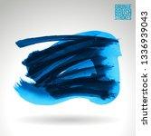 blue brush stroke and texture.... | Shutterstock .eps vector #1336939043