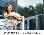 beautiful woman 30 years old... | Shutterstock . vector #1336939370