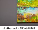 art on the wall. contemporary... | Shutterstock . vector #1336942070