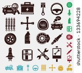 car set in five colors   Shutterstock .eps vector #133694228