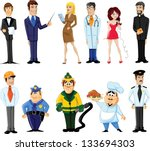 cartoon characters manager ... | Shutterstock .eps vector #133694303