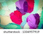 oil painting. beautiful ... | Shutterstock . vector #1336957919