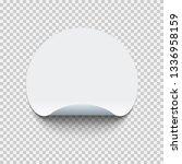 blank round adhesive sticker... | Shutterstock .eps vector #1336958159