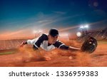 baseball player at professional ... | Shutterstock . vector #1336959383