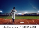 baseball player at professional ... | Shutterstock . vector #1336959440