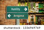Small photo of Street Sign to Humility