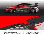 wrap car vector   supercar ... | Shutterstock .eps vector #1336983503