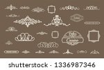 vintage decor elements and... | Shutterstock .eps vector #1336987346