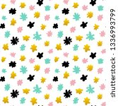 floral hand drawn seamless... | Shutterstock .eps vector #1336993799