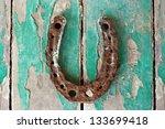 Antique Rusty Horseshoe On...